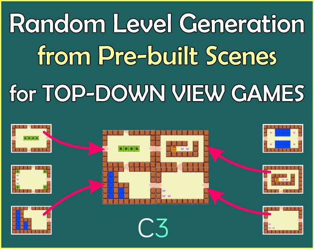 Random Level Generator Template for Top-Down View Games – Premium Template