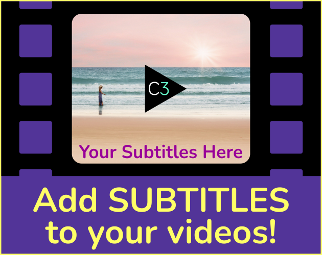 Add Subtitles to your videos!